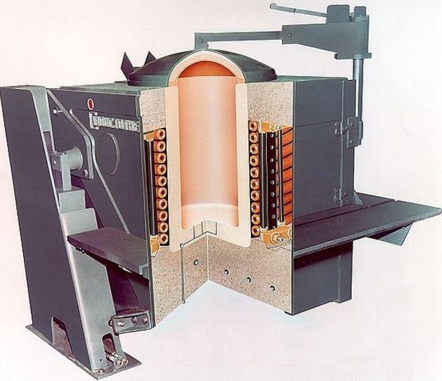 Промышленные печи - тигельная печь, устройство и назначение тигельных печей, виды тигельных печей Вакуумные технологии